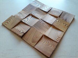 3Д панель с обжигом из массива листвениицы