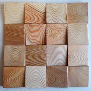 3 д панель из массива лиственницы - косой срез