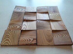 3D панель из массива дерева под заказ